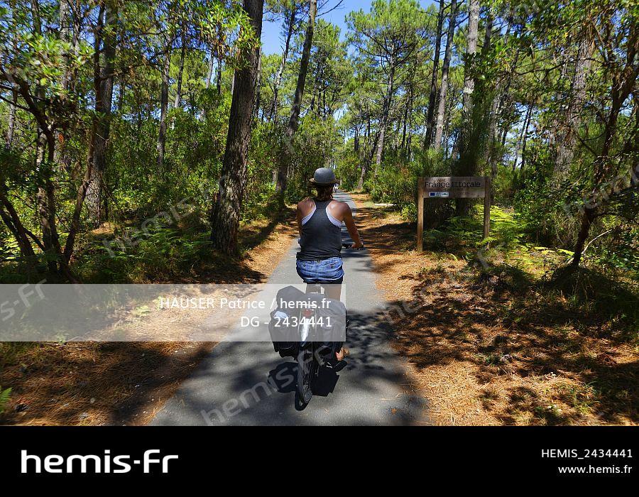 Hemis France Gironde Bassin Arcachon Cap Ferret Piste Cyclable