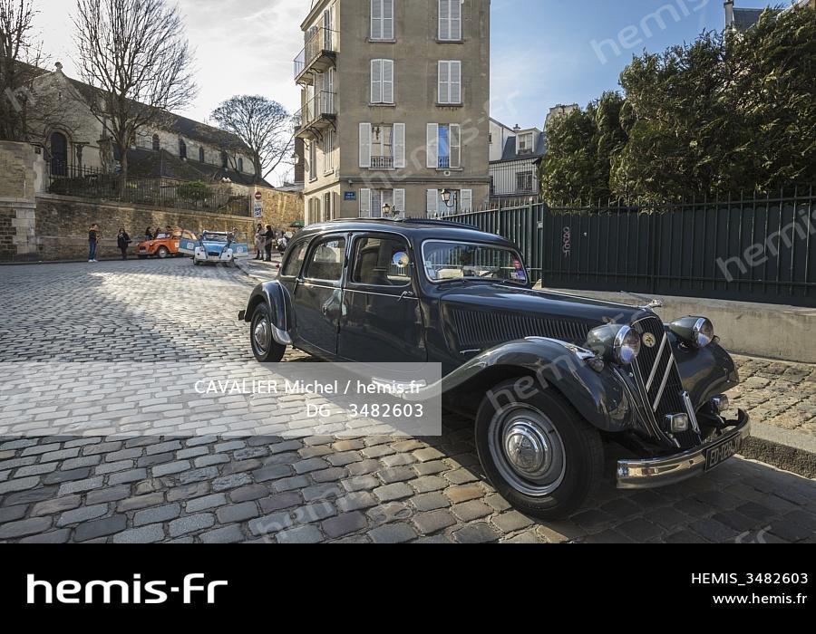 Hemis France Paris Montmartre Voiture Citroen Traction
