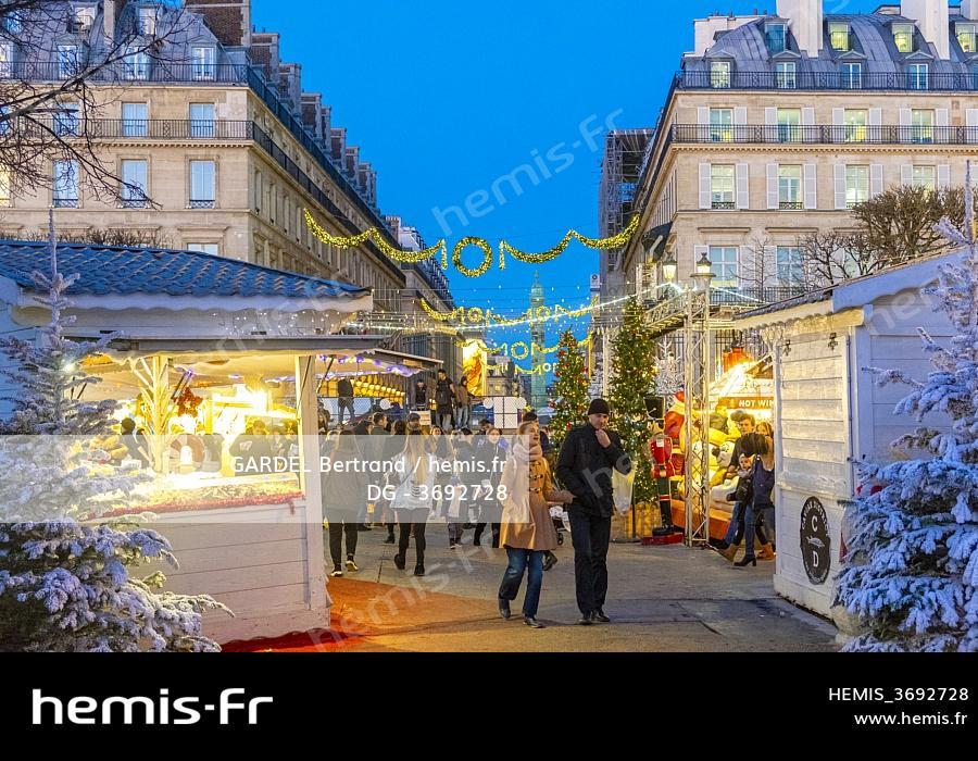 Hemis France Paris Jardin Tuileries Marche Noel